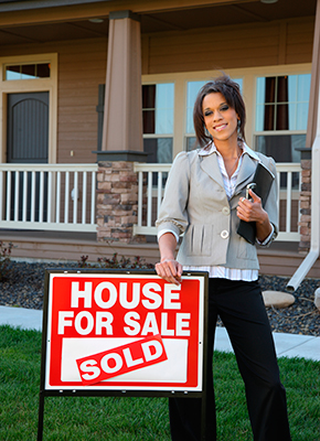 Real Estate Agent Sold Sign