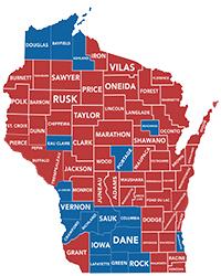 Trump And Johnson Turn Wisconsin Red Wisconsin REALTORS Association - 2016 map of us senate