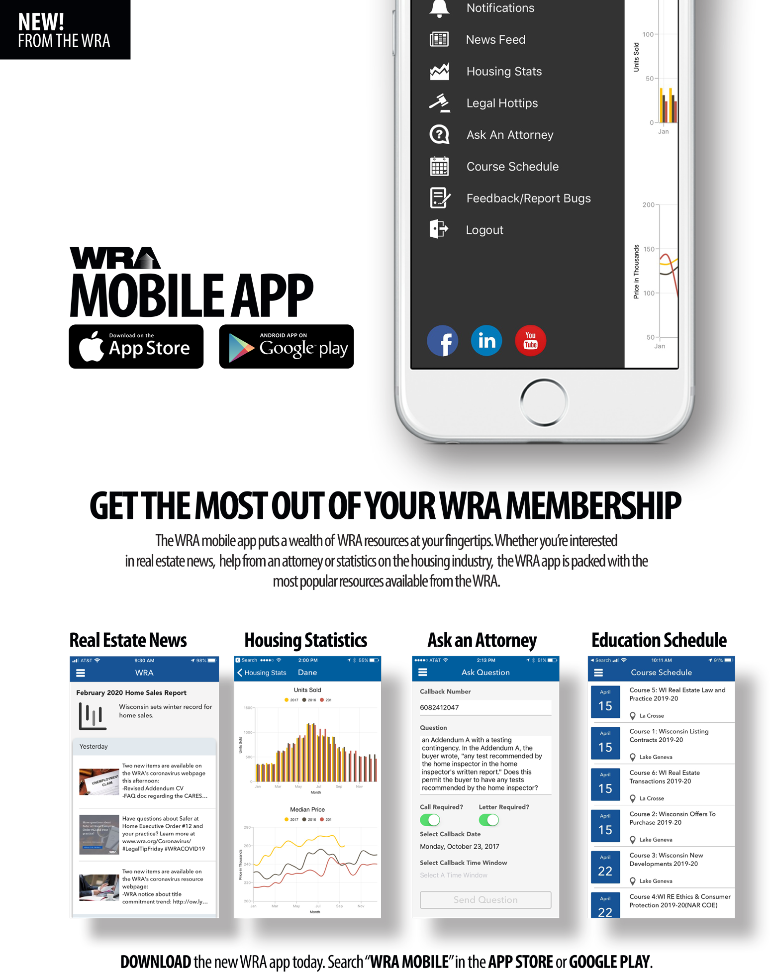 WRA Mobile App Landing Page